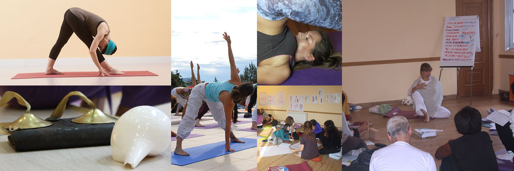 Collage Cursos de Yoga